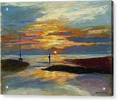 Paines Creek Sunset Acrylic Print