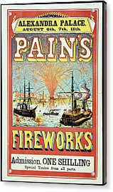 Pain's Fireworks Acrylic Print by British Library