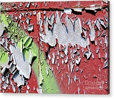 Paint Abstract Acrylic Print by Ed Weidman