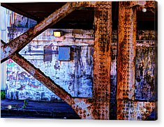Paint And Rust 28 Acrylic Print by Jim Wright