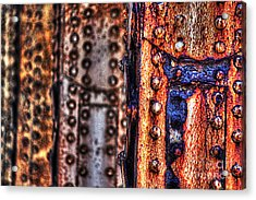 Paint And Rust 29 Acrylic Print by Jim Wright