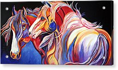 Paint Horse Colorful Spirits Acrylic Print