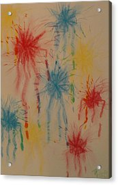 Acrylic Print featuring the drawing Paint My Masterpiece by Thomasina Durkay