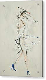 Paint My Toes And Twirl Acrylic Print by Chelsea Davidson