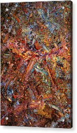 Paint Number 43 Acrylic Print by James W Johnson
