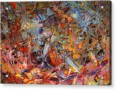 Paint Number 43a Acrylic Print by James W Johnson