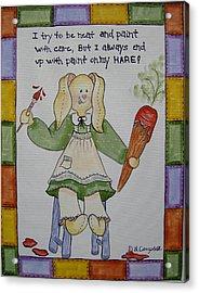 Paint On My Hare Acrylic Print