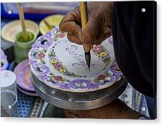 Paint On Plates Acrylic Print
