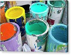 Paint Pots Acrylic Print