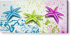 Paint Spattered Star Fish Acrylic Print