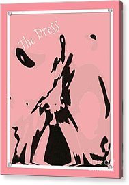 Paint The Town Pink Acrylic Print by Cindy McClung