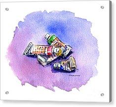 Paint Tubes Acrylic Print