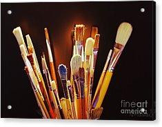 Paintbrushes Acrylic Print by AmaS Art