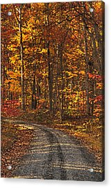 Painted Autumn Country Roads Acrylic Print