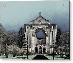Acrylic Print featuring the digital art Painted Basilica 2 by Teresa Zieba