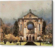 Painted Basilica Acrylic Print by Teresa Zieba