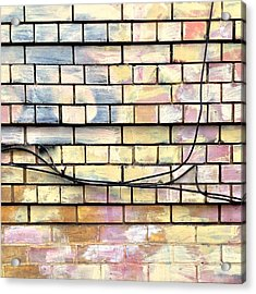 Painted Brick Acrylic Print by Julie Gebhardt