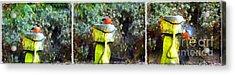 Painted Bullfinch Trio Acrylic Print