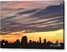 Painted By Nature Acrylic Print by Robert Daniels