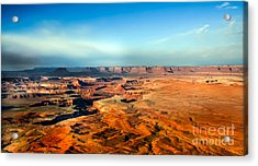Painted Canyonland Acrylic Print by Robert Bales