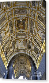 Painted Ceiling Of Staircase In Doges Palace Acrylic Print
