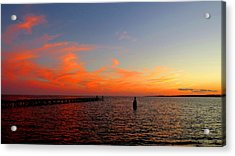 Painted Clouds Of New Haven Acrylic Print by Stephen Melcher