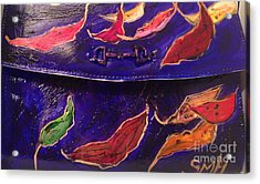 Painted Clutch Purse Titled Fallen Into Place Acrylic Print by Sherry Harradence