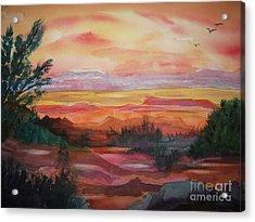 Painted Desert II Acrylic Print by Ellen Levinson