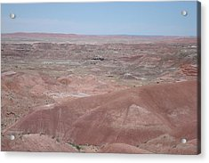 Painted Desert Acrylic Print by Susan Woodward