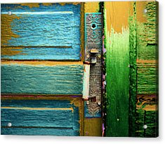 Painted Doors Acrylic Print