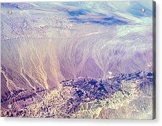 Painted Earth I Acrylic Print by Jenny Rainbow