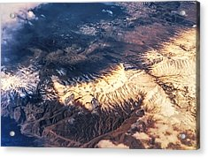 Painted Earth Iv Acrylic Print by Jenny Rainbow
