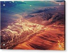 Painted Earth Acrylic Print by Jenny Rainbow