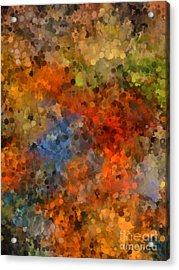 Painted Fall Abstract Acrylic Print by Andrea Auletta