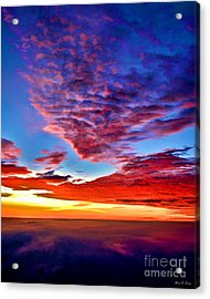Acrylic Print featuring the photograph Painted Heavens by Adam Olsen