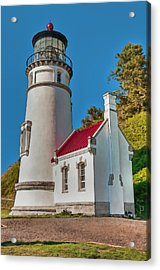 Painted Heceta Head Lighthouse Acrylic Print