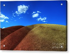 Painted Hills Blue Sky 1 Acrylic Print by Bob Christopher