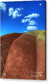 Painted Hills Blue Sky 2 Acrylic Print by Bob Christopher