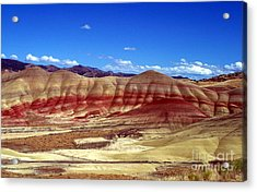Acrylic Print featuring the photograph Painted Hills by Chalet Roome-Rigdon