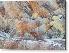 Painted Hills In Death Valley Acrylic Print by Larry Marshall