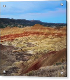 Painted Hills In Square Acrylic Print by Ryan Manuel