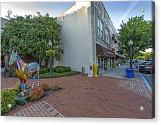 Painted Horse On Laurens Street In Aiken Sc Acrylic Print