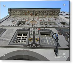 Painted House On The Rathaussteg Acrylic Print by Art Ina Pavelescu