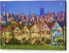 Painted Ladies Acrylic Print by Andrea Auletta
