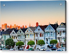 Painted Ladies Acrylic Print by Bill Gallagher