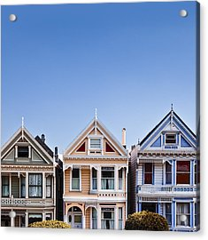 Painted Ladies Acrylic Print by Dave Bowman