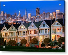 Painted Ladies Acrylic Print by Inge Johnsson