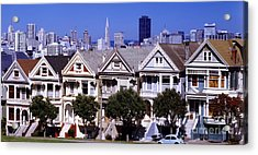 Painted Ladies Acrylic Print by Ron Smith