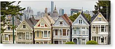 Painted Ladies Row Houses By Alamo Square Acrylic Print