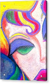 Painted Lady Graffiti Street Art Acrylic Print